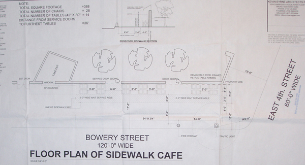 Bowery Bar Sidewalk Plan 2011