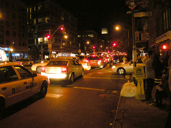 Traffic on Bowery & Houston