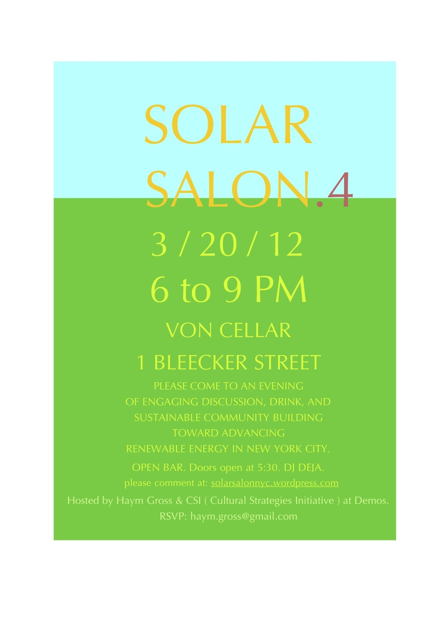 Solar Salon Invite