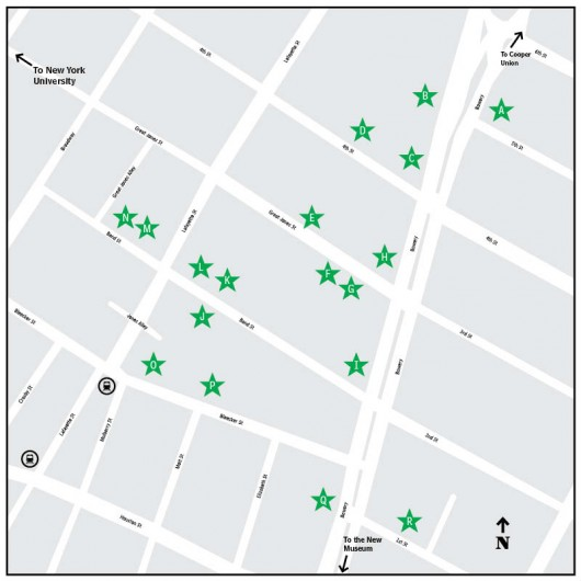 NoHo Design District Event Locations.  Click map for larger image.