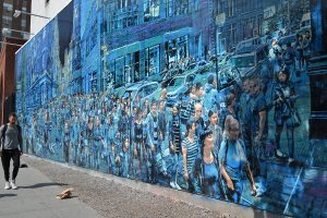 what's new is Logan-Hicks mural at houston and bowery
